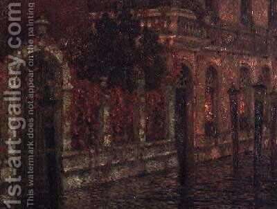 Venice Canal by Henri Eugene Augustin Le Sidaner - Reproduction Oil Painting