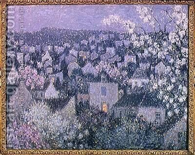 Spring Evening by Henri Eugene Augustin Le Sidaner - Reproduction Oil Painting
