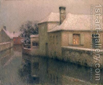 Nemours Seine at Marne by Henri Eugene Augustin Le Sidaner - Reproduction Oil Painting