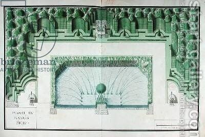 Design for a water garden at Versailles by Andre Le Notre - Reproduction Oil Painting