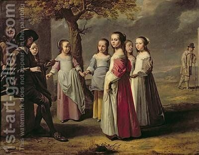 The Childrens Dance by Mathieu Le Nain - Reproduction Oil Painting