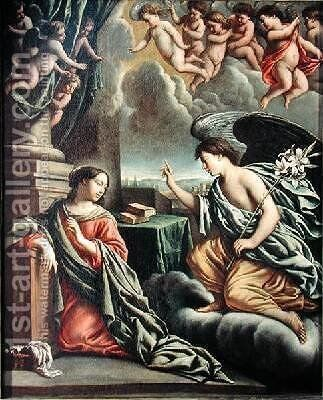 Annunciation by Mathieu Le Nain - Reproduction Oil Painting