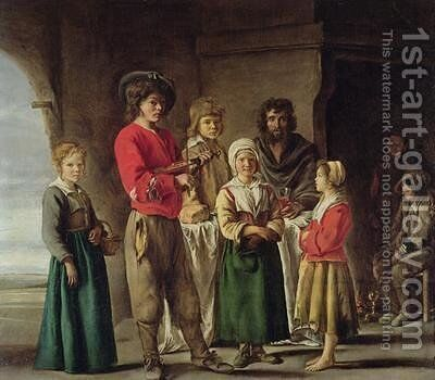 Peasants in a Cave by Mathieu Le Nain - Reproduction Oil Painting