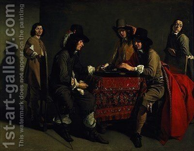 The Backgammon Players by Mathieu Le Nain - Reproduction Oil Painting