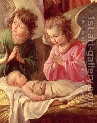 Adoration of the Shepherds by Mathieu Le Nain - Reproduction Oil Painting