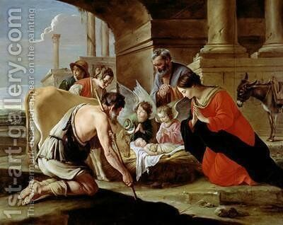 The Adoration of the Shepherds by Mathieu Le Nain - Reproduction Oil Painting