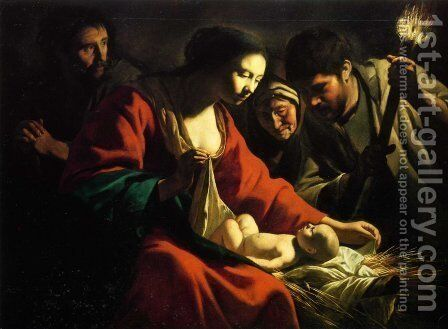 The Nativity by Mathieu Le Nain - Reproduction Oil Painting