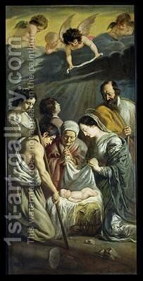 The Adoration of the Shepherds 2 by Mathieu Le Nain - Reproduction Oil Painting