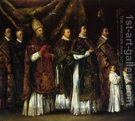 The Pontifical Mass or The Procession by Antoine Le Nain - Reproduction Oil Painting