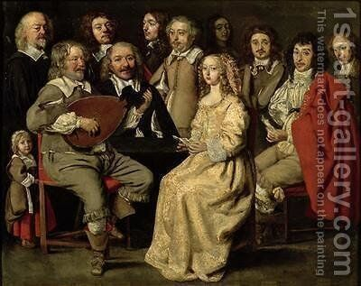 The Musical Reunion by Antoine Le Nain - Reproduction Oil Painting