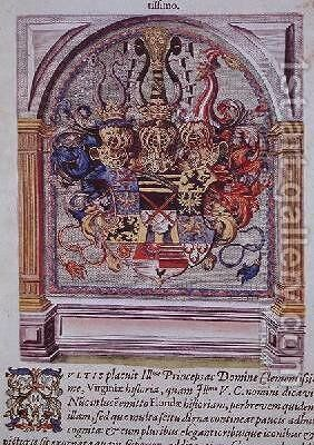 Coat of Arms by (after) Le Moyne, Jacques (de Morgues) - Reproduction Oil Painting