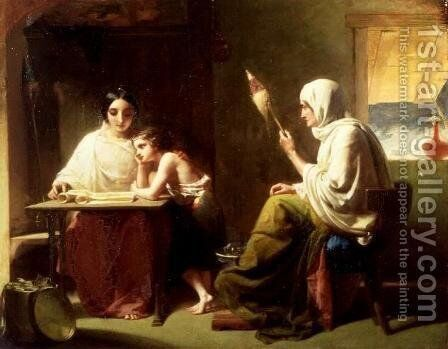The Early Days of Timothy by Henry Le Jeune - Reproduction Oil Painting