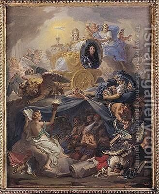 Triumph of Religion by Charles Le Brun - Reproduction Oil Painting