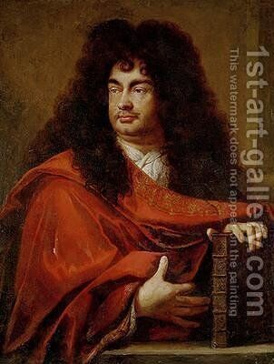 Portrait of Montfleury 1600-67 by Charles Le Brun - Reproduction Oil Painting