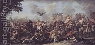 Death of a Persian General by (after) Le Brun, Charles - Reproduction Oil Painting