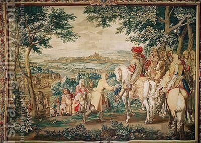 The Surrender of Marsal in 1662 2 by (after) Le Brun, Charles - Reproduction Oil Painting
