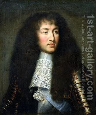 Portrait of Louis XIV 1638-1715 by (after) Le Brun, Charles - Reproduction Oil Painting
