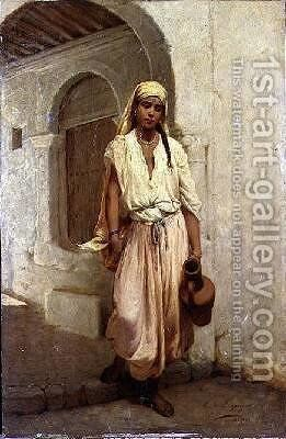 A Water Carrier by Jean Raymond Hippolyte Lazerges - Reproduction Oil Painting