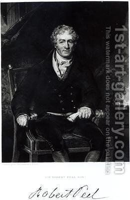 Portrait of Sir Robert Peel 1788-1850 by (after) Lawrence, Sir Thomas - Reproduction Oil Painting