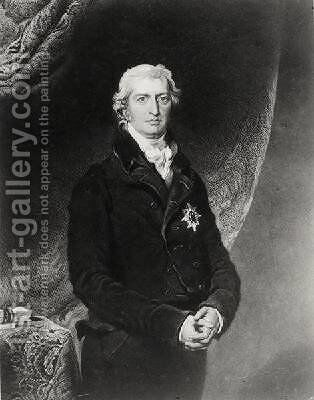 Portrait of Robert Banks Jenkinson by (after) Lawrence, Sir Thomas - Reproduction Oil Painting