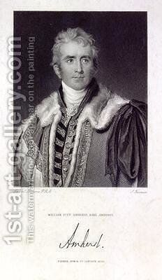 William Pitt Amherst Earl Amherst of Arracan 1773-1857 by (after) Lawrence, Sir Thomas - Reproduction Oil Painting