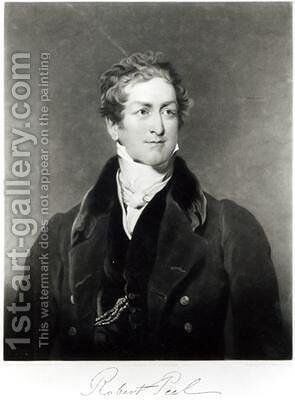 Portrait of Sir Robert Peel 1788-1850 2 by (after) Lawrence, Sir Thomas - Reproduction Oil Painting
