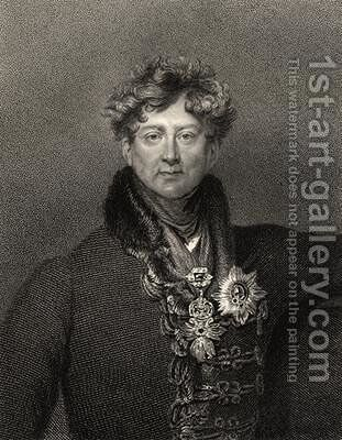 King George IV by (after) Lawrence, Sir Thomas - Reproduction Oil Painting