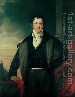 Sir Humphry Davy by (after) Lawrence, Sir Thomas - Reproduction Oil Painting