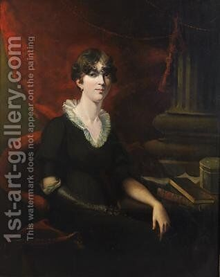 Portrait of a Lady possibly Sarah Harriet Burney 1772-1884 by (after) Lawrence, Sir Thomas - Reproduction Oil Painting