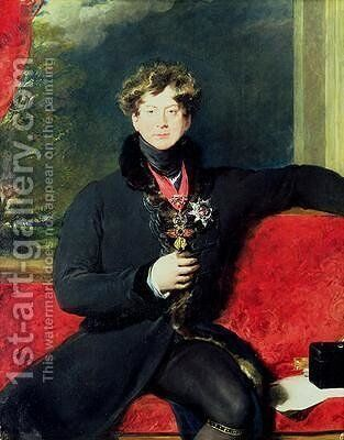 Portrait of King George IV 1762-1830 by (after) Lawrence, Sir Thomas - Reproduction Oil Painting