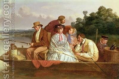 A Fishing Party by (attr. to) Lawless, Matthew James - Reproduction Oil Painting