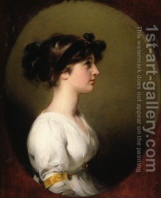 The Hon Caroline Upton by Sir Thomas Lawrence - Reproduction Oil Painting