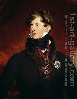 George IV 1762-1830 by Sir Thomas Lawrence - Reproduction Oil Painting