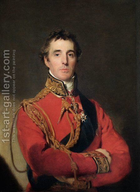 Portrait of Arthur Wellesley 1769-1852 by Sir Thomas Lawrence - Reproduction Oil Painting
