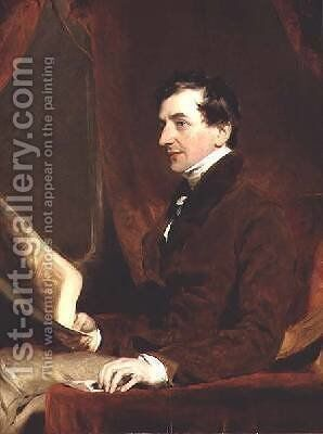 Portrait of Samuel Woodburn by Sir Thomas Lawrence - Reproduction Oil Painting