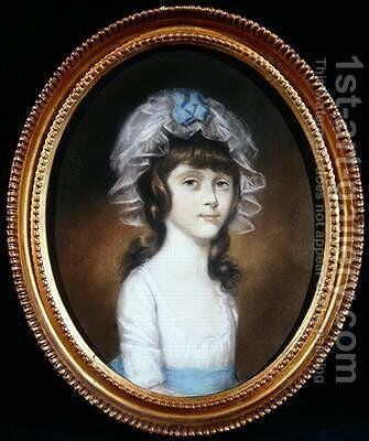 Portrait of a Daughter of the Basset Family by Sir Thomas Lawrence - Reproduction Oil Painting