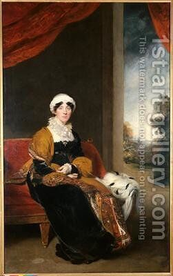 Portrait of Eleanor Lady Wigram by Sir Thomas Lawrence - Reproduction Oil Painting
