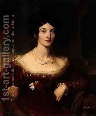 Anna Frances Bankes Lady Falmouth 1789-1864 by Sir Thomas Lawrence - Reproduction Oil Painting