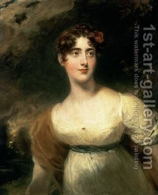 Portrait of Lady Emily Harriet Wellesley Pole by Sir Thomas Lawrence - Reproduction Oil Painting