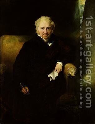Portrait of Henry Fuseli Johann Heinrich Fussli by Sir Thomas Lawrence - Reproduction Oil Painting