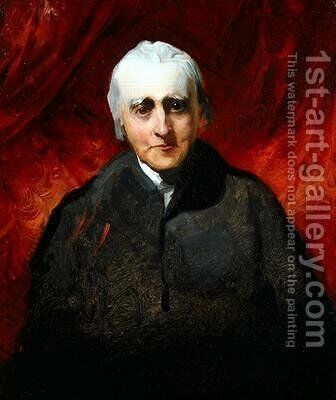 Portrait sketch of an elderly man by Sir Thomas Lawrence - Reproduction Oil Painting