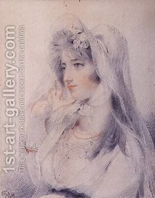 Portrait of Mrs Angerstein by Sir Thomas Lawrence - Reproduction Oil Painting