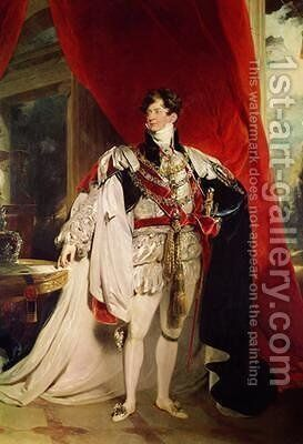 The Prince Regent later George IV 1762-1830 in his Garter Robes by Sir Thomas Lawrence - Reproduction Oil Painting