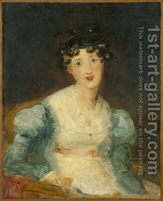 Young Lady Seated by Sir Thomas Lawrence - Reproduction Oil Painting