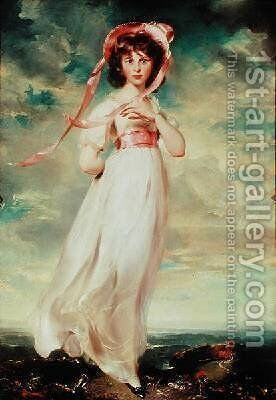 Sarah Barrett Moulin Pinkie by Sir Thomas Lawrence - Reproduction Oil Painting