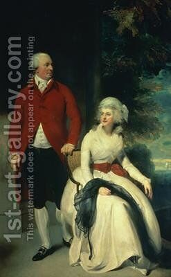 Portrait of John Julius Angerstein 1735-1823 and his second wife Eliza 1748-1800 by Sir Thomas Lawrence - Reproduction Oil Painting