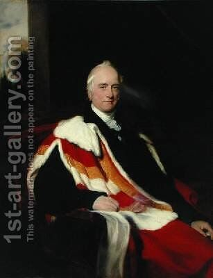 Sir Nicholas Vansittart 1766-1851 by Sir Thomas Lawrence - Reproduction Oil Painting