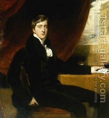 Portrait of William Spencer Cavendish 2 by Sir Thomas Lawrence - Reproduction Oil Painting