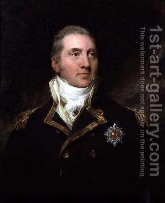 Portrait of Admiral Sir Edward Pellew by Sir Thomas Lawrence - Reproduction Oil Painting