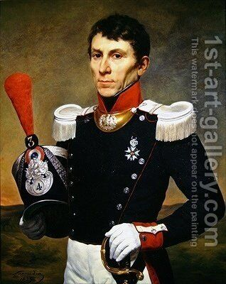 Portrait of a Soldier by Alphonse Lavaudan - Reproduction Oil Painting